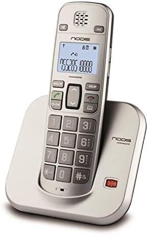 Teléfono inalámbrico NODIS nd-komodo para uso doméstico, con teclas grandes para mayores, retroiluminada, manos libres, registro de Ultime 30 llamadas, 50 Memorie Agenda.: Amazon.es: Electrónica
