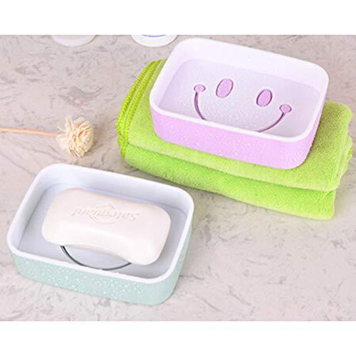 Toilet Lid Bathroom Case Double Soap Holder Storage Soap Box Wash Soap Dish