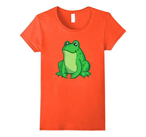 Toad Costume Female (Womens Toad, Frog Costume Shirt For Any Wildlife Theme party Small Orange)