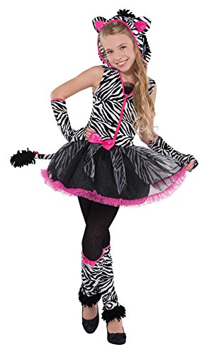 Sassy Stripes Zebra Costume for Halloween Party, School Acting, Costume Party, Play Jungle, for Kids Size XL (1 Pack)