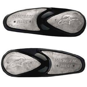 Alpinestars Replacement Magnesium Toe Slider Set - -- Alpinestars Toe Slider