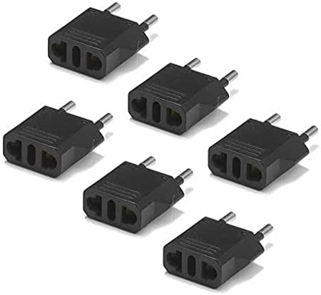 2-Pack, White United States to Sweden Travel Power Adapter to Connect North American Electrical Plugs to Swedish outlets For Cell Phones Tablets and More eReaders