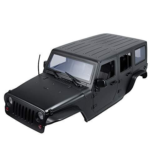 RCLions 313mm Wheelbase RC Car Body Shell Plastic for1/10 RC Car Jeep Wrangler Axial SCX10-II 90046/90047 TRX4 kit -