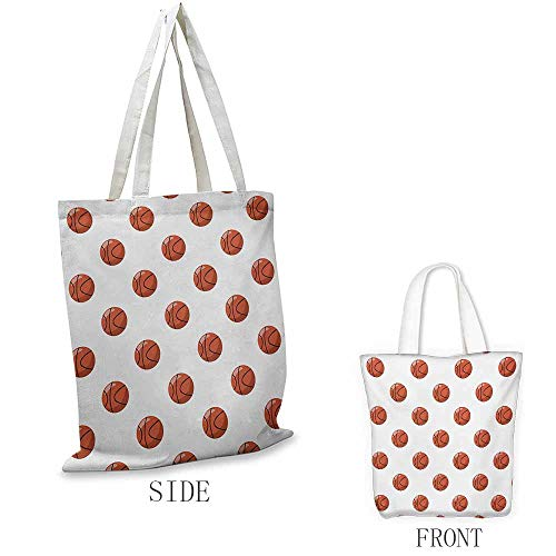 (Basketball Shopping bag series Cartoon Classical Balls Competition Scoring Professional Tournament Insulated shopping bag W15.75 x L13.78 Inch Cinnamon Black)