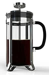 Premium Large French Press for Coffee, Tea, Infuse Your Favorite Beer with Delicious Flavors. 8 Cups in Steel and Heat Resistant Glass. Multi-layered Filter Blocks Grounds For A Smooth Drink.