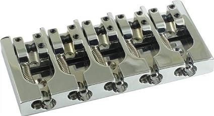 Bridge - Hipshot, Type A, 5 String,  750, Brass, Chrome