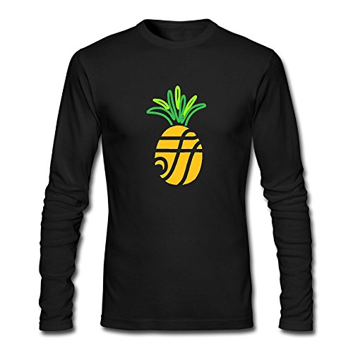 Men's Funny Mesh Pineapple Long Sleeve Athletic Cotton Round Neck - Africa Clothing Versace South