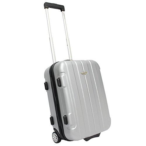 travelers-choice-rome-20-hard-shell-carry-on-upright-silver-grey