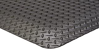 "product image for APACHE MILLS - 9/16"" Diamond Foot Solid Black 3' x 5' Anti-Fatigue Matting"