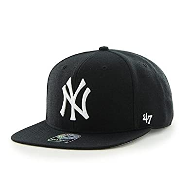 47 MLB New York Yankees Sure Shot Captain Gorra de béisbol, Black ...
