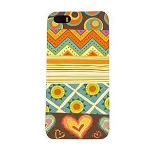 Patr¨®n de la raya exquisito colorido de la caja dura de la PC para el iPhone 5/5S