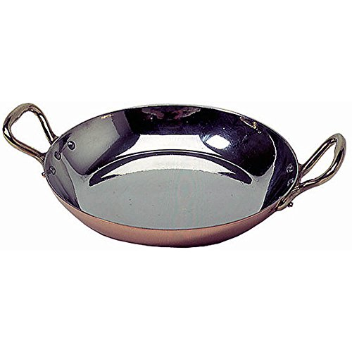 "Mauviel 032039 8"" Copper Egg Pan With Bronze Handles"