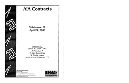 AIA Contracts: FAIA James H  Anstis, F  Alan Cummings, S