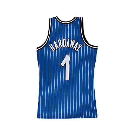 - Tyusdva Mens Hardaway Jersey #1 Penny Anfernee Orlando Adult Basketball Stripe Sizes Blue (Blue, Medium)