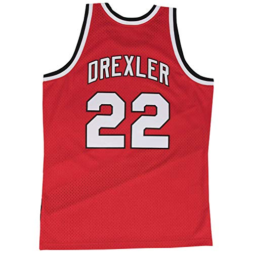 Mitchell & Ness Clyde Drexler Portland Trail Blazers Swingman Jersey Red (X-Large) ()