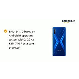 Honor 9X (Sapphire Blue, 4+128GB Storage)-Pop up Front Camera & 48MP Triple Rear Camera