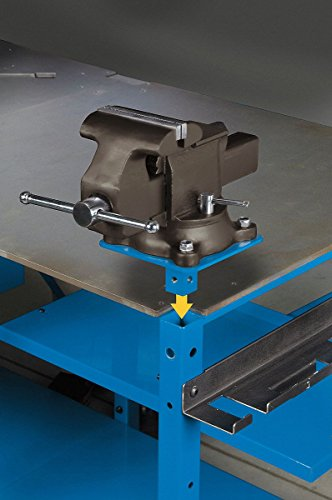 Miller Electric Vise Mount Plate, 7 W x 7 D x 4 H, Blue ()
