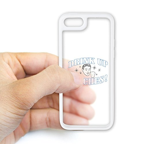 iPhone 5C Case White and Clear Beer Drink Up Bitches (Coors Light Case)