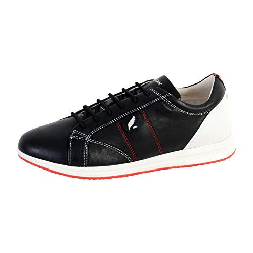 D Negro Zapatillas Mujer Geox Avery white black C0127 Para A YaUdxwU