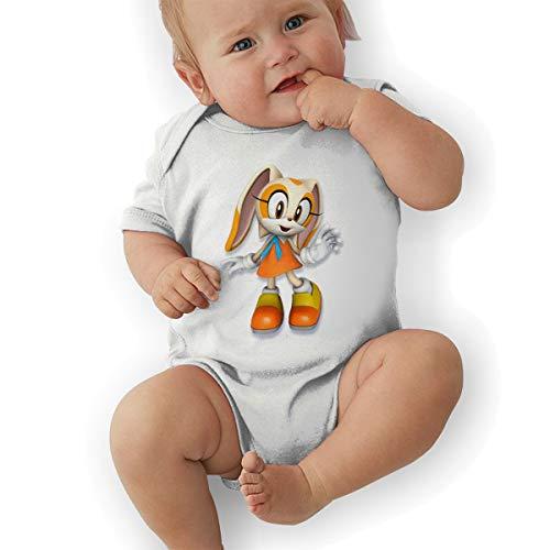 DingingGOOD Babys Sonic Hedgehog 3D Cream The Rabbit Fashion Comfortable Short Sleeve Jumpsuit Outfits 12M ()