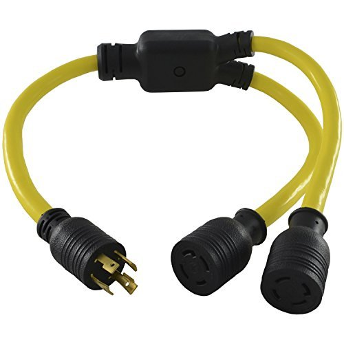Conntek YL1430L1430 3FT Y 30 Amp Adapter Cord NEMA L14-30P Locking Plug to L14-30R 30 Amp Female Connector by Conntek