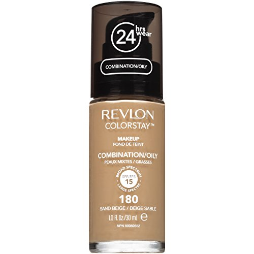 Revlon ColorStay Liquid Makeup for Combination/Oily Skin, Sand Beige, 1 Fluid - Liquid 180