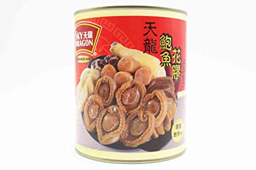 Canned Abalone and Fish Maw Bowl Feast 天龍鮑魚花膠盆菜 Worldwide Free Airmail