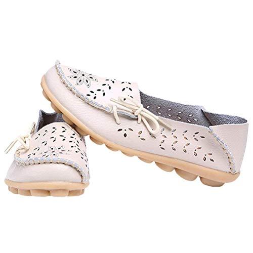 Le Mocassins Semelles En beige À Cuir Des Chaussures Pour Et Femmes Confort Compensées Taille Qiusa 5 Travail Style 2 Uk coloré qIdw7d