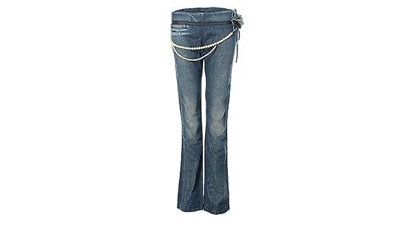 Killah Pantalones Vaqueros Super Slim Tubo Perlas Azul W28 ...