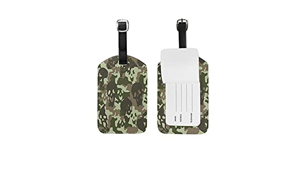 2 Pack Luggage Tags Camouflage Handbag Tag For Suitcase Bag Accessories