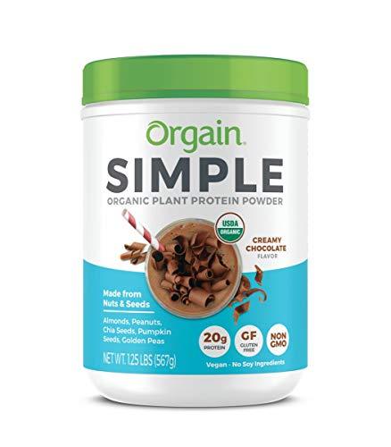 Orgain Simple Organic Plant Protein Powder, Chocolate