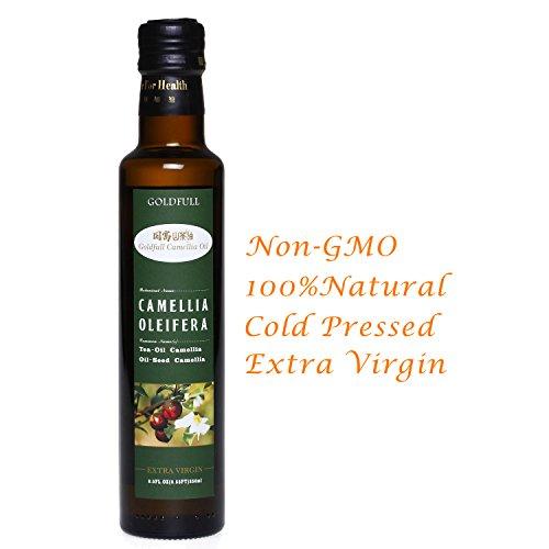 Goldfull Camellia Oil,Tea Oil,Tea Seed Oil,Camellia Seed Oil, Cold Pressed Extra Virgin Cooking Oil,Camellia Oleifera Oil, Natural Flavor, Current Harvest