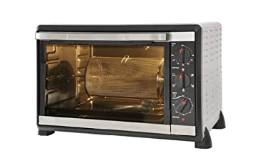 Kitchen Chef CK-42GS - Horno multifunción (1800 W, acero inoxidable),