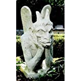 36''h Gothic Replica Statue Medieval Sculpture Historical French Spitting Gargoyle