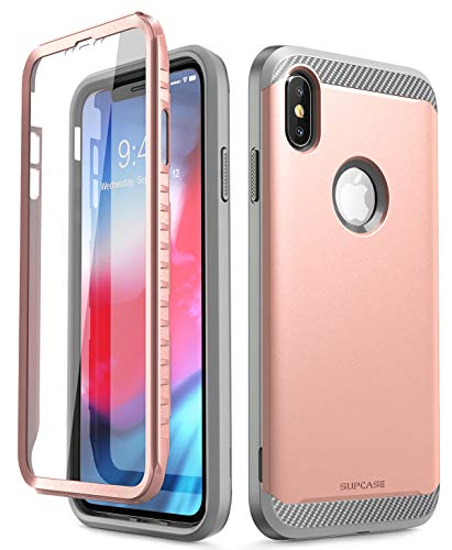 iPhone Xs Max Case, SUPCASE [UB Neo Series] Full-Body Protective with Built-in Screen Protector Dual Layer Armor Cover for iPhone Xs Max 6.5 Inch 2018 (Rosegold)