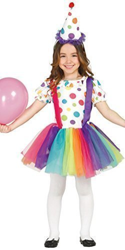 Girls Big Top Clown Carnival Circus Halloween Birthday Spotty Fancy Dress Costume Outfit 3-9 Years (7-9 Years) -