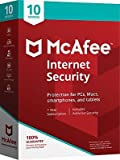 Software : McAfee Internet Security 10 Devices (1-10 Users)