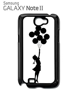 Banksy Balloon Girl Mobile Cell Phone Case Samsung Note 2 Black