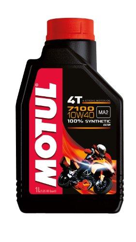 Motul 7100 4T 10W-40 Synthetic Oil, 1-Liter,1 - Oil 4t 4 Stroke Engine