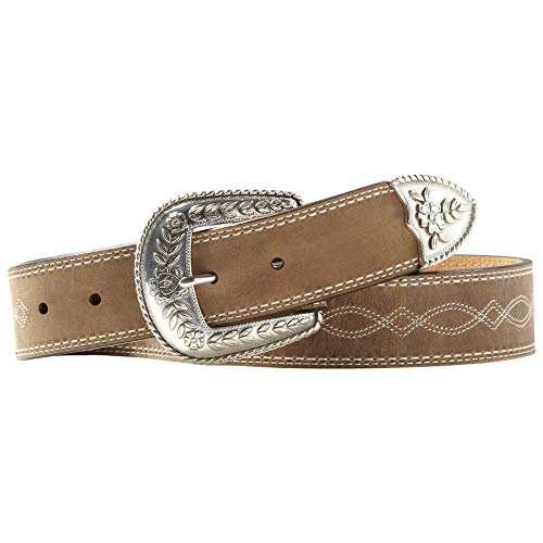 - Ariat Women's Fatbaby Center Stitch Belt, brown, 30