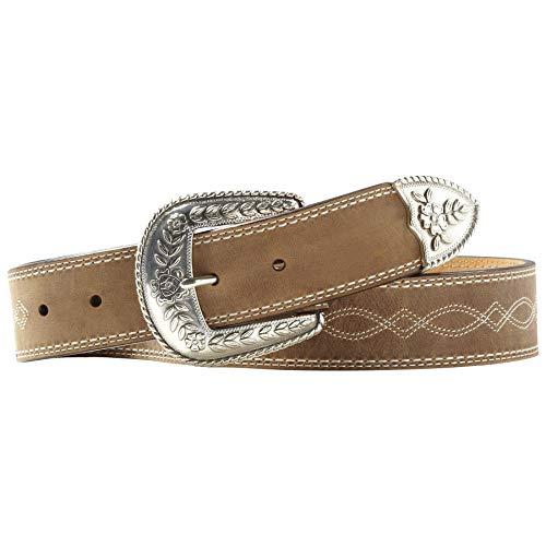 Ariat Women's Fatbaby Center Stitch Belt, brown, 32 (Western Women Belts)