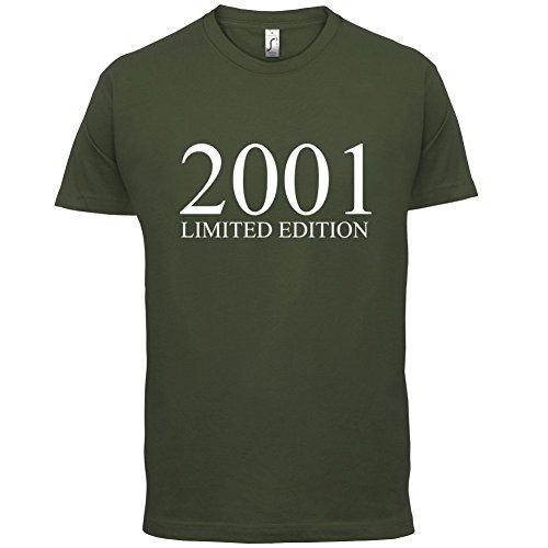 2001 Limierte Auflage / Limited Edition - 16. Geburtstag - Herren T-Shirt - Olivgrün - S