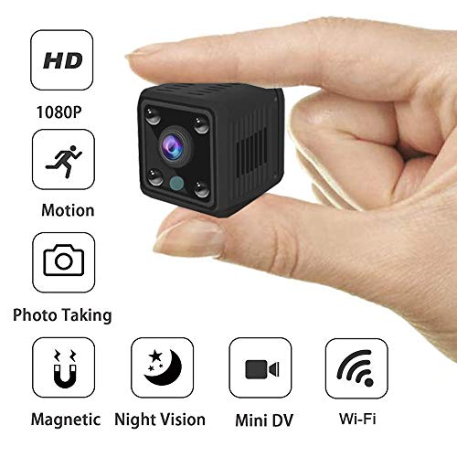 Mini Spy Camera WiFi, RRigo HD 1080P Spy Camera Wireless Hidden Camera Live Streaming with Microphone, Night Vision, Motion Detection, for Baby/Elder/Pet Monitor Fit Indoor Remote Control