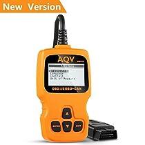 OBD2 Scanner, AQV OBD2 Reader OM123 Code Reader Car OBD Scanner Tool Read & Clear Trouble Code of Engine Light Diagnostic Scan Tool for All Vehicles After 1996