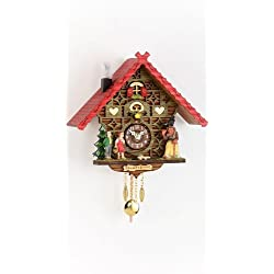 Trenkle Kuckulino Black Forest Clock Black Forest House with Quartz Movement and Cuckoo Chime TU 2050 PQ