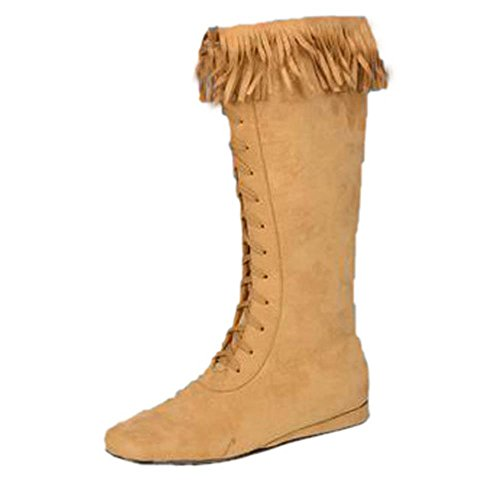Adult Men's Indian Costume Boots (Sz:Large 12-13) (Indian Costume Boots)