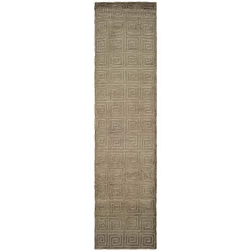 Safavieh Tibetan Collection TB108C Hand-Knotted Olive Wool Runner (2'6