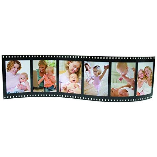 Horizontal Filmstrip Frame Wave Frames - Holds 3 Photos - Pack of -