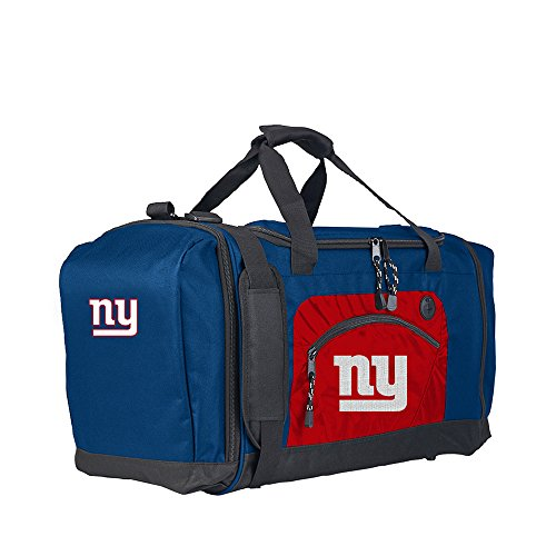 Amirshay, Inc.. New York Giants NFL Roadblock Duffel Bag (Black/Black) (2-Pack) by Amirshay, Inc.