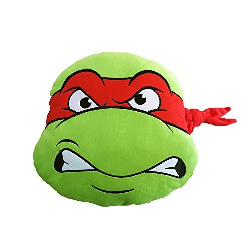 Tortues Ninja T & F Coussin Ameublement, Polyester, vert/rouge, 37x 37cm